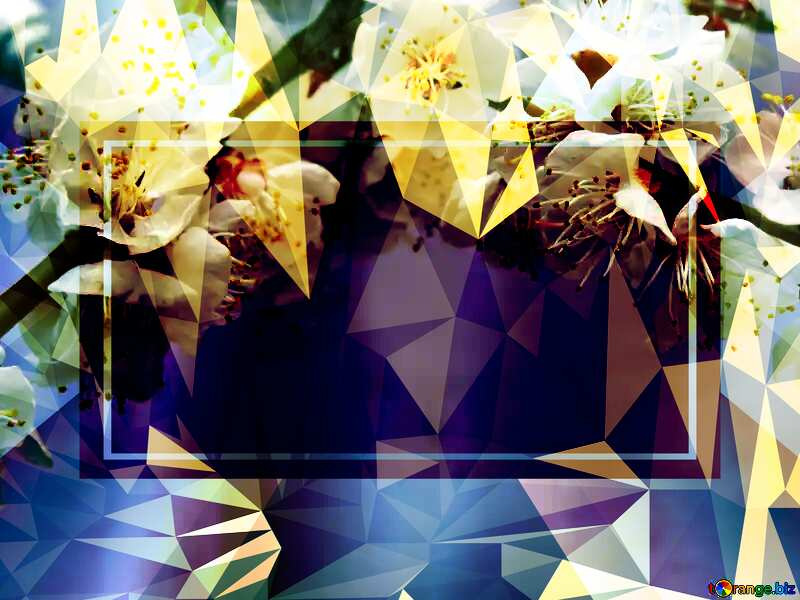 Spring blossoms Polygonal abstract geometrical background with triangles №30029