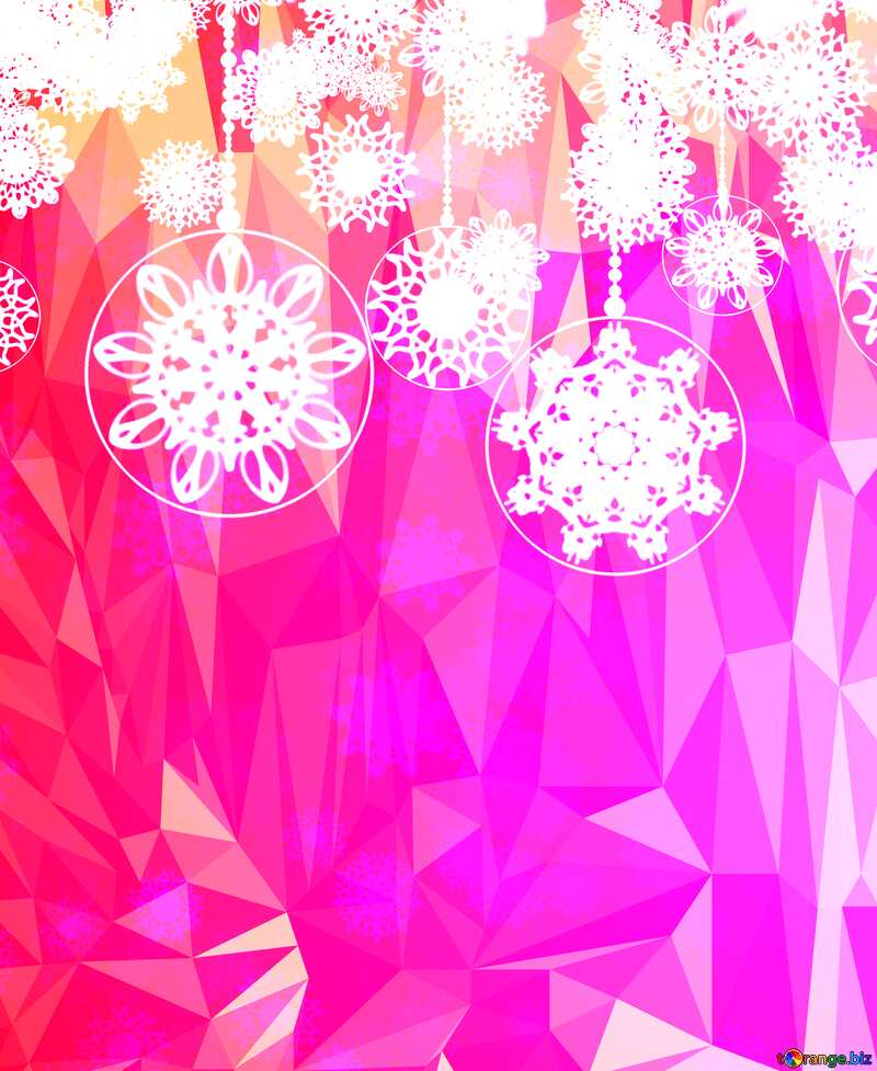 Clipart Christmas pink Polygonal abstract geometrical background with triangles №40711