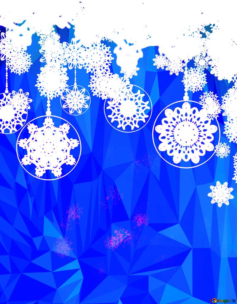Clipart Christmas Polygonal abstract geometrical background with triangles №40711