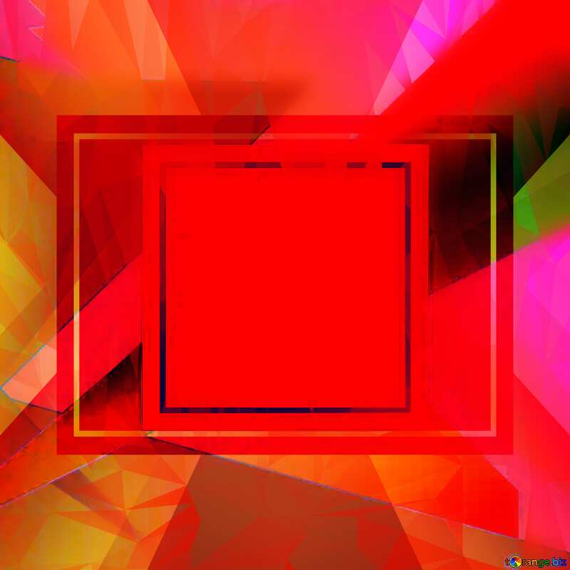 template frame Polygonal abstract geometrical background with triangles №49675