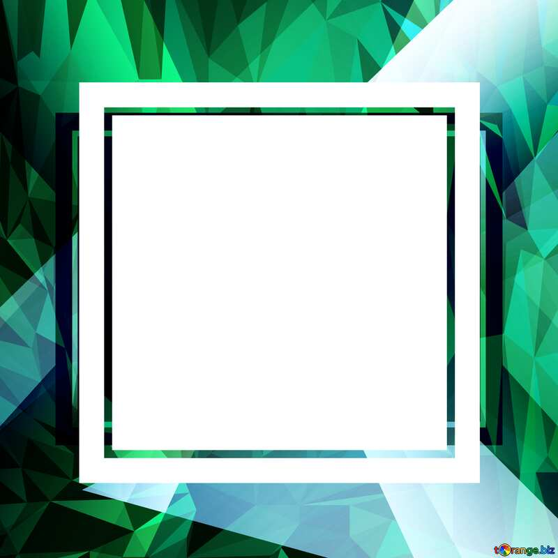 Colorful frame Template Polygonal abstract geometrical background with triangles №49675