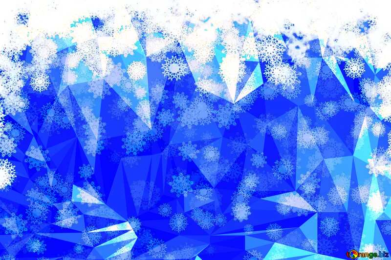 Christmas ice Polygonal abstract geometrical background with triangles №40662