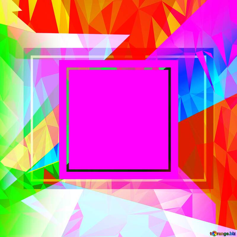 Colorful template frame Polygonal abstract geometrical background with triangles №49675
