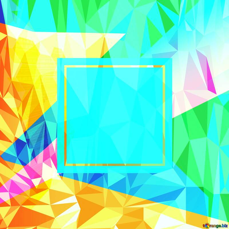 technology Template concept Polygonal abstract geometrical background with triangles Technology №49674