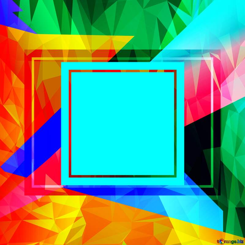 Colorful illustration template frame Polygonal abstract geometrical background with triangles responsive frame template №49675