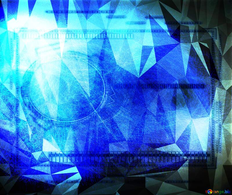 Lighten blue template virtual graphic Polygonal abstract geometrical background with triangles №40636