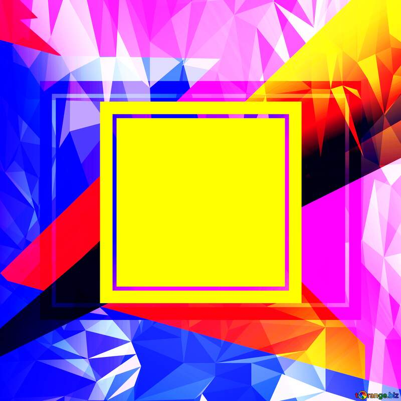 Colorful illustration template frame Trend Polygonal abstract geometrical background with triangles №49675