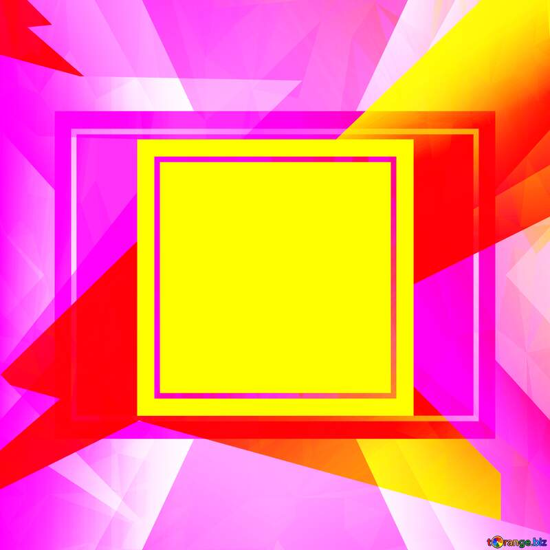 Colorful template frame Future Polygonal abstract geometrical background with triangles №49675