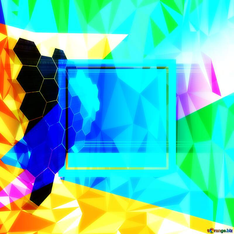 it business information technology concept template geometric frame Polygonal abstract geometrical background with triangles №49674