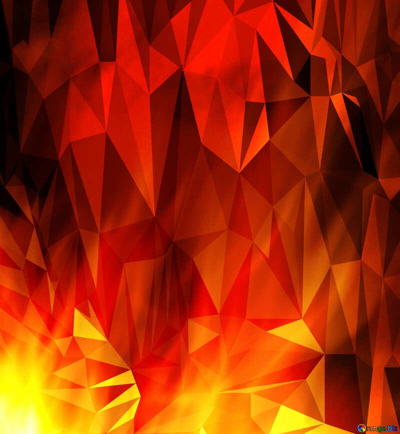Fire Polygonal background №9546