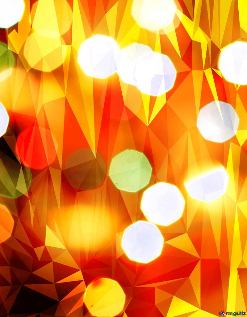 Christmas Bokeh Polygonal abstract geometrical background with triangles №24617