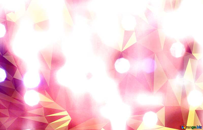 Bright Christmas Polygonal abstract geometrical background with triangles №24606