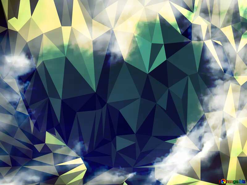 Heart of clouds Polygonal abstract geometrical background with triangles №22604
