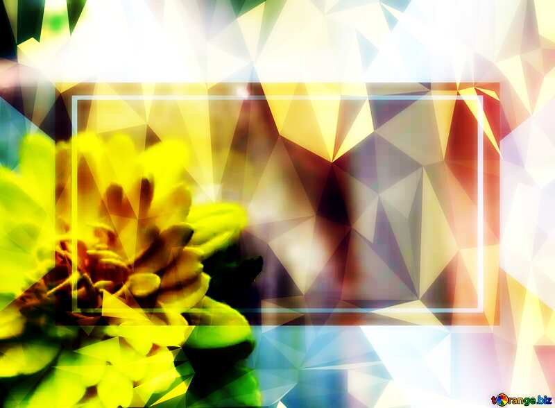 Yellow flower template Polygonal abstract geometrical background with triangles №48635