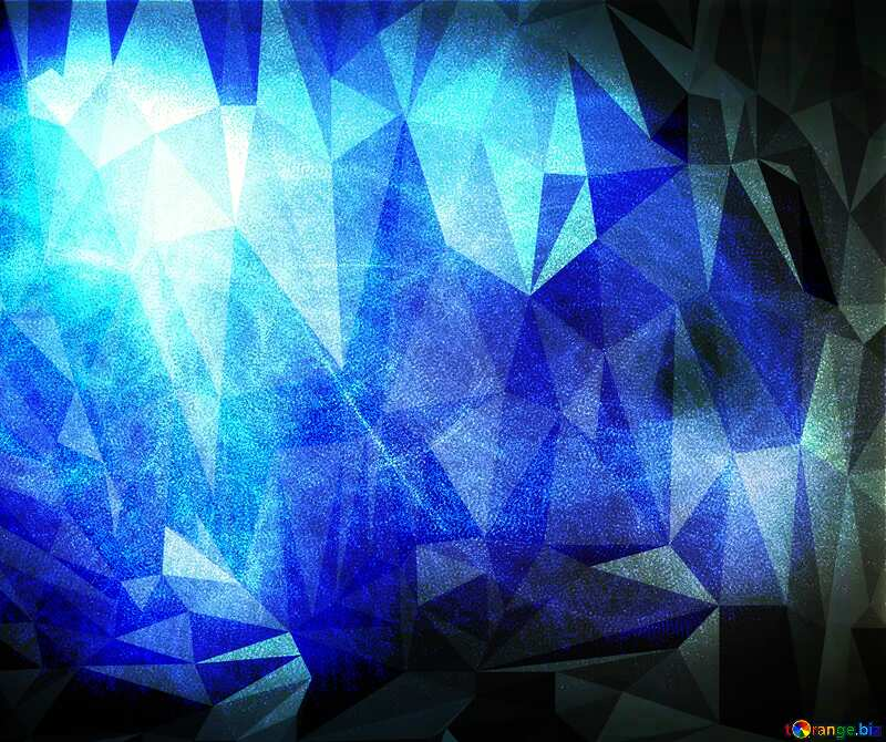 Blue fog Polygonal abstract geometrical background with triangles №40636