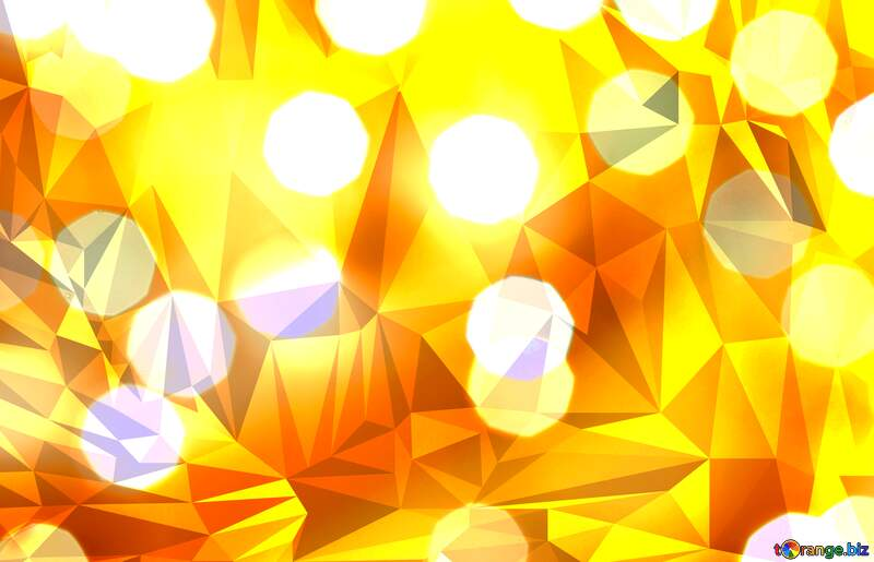 Christmas Lighten bokeh Polygonal abstract geometrical background with triangles №24617