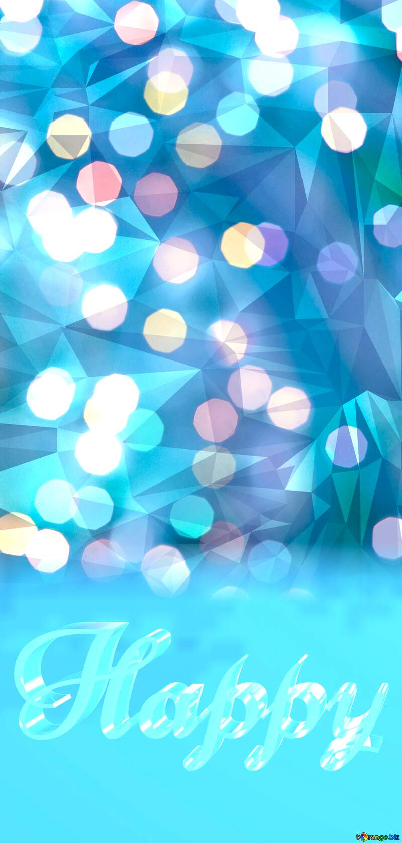Christmas Lighten Polygonal abstract geometrical background with triangles №24617