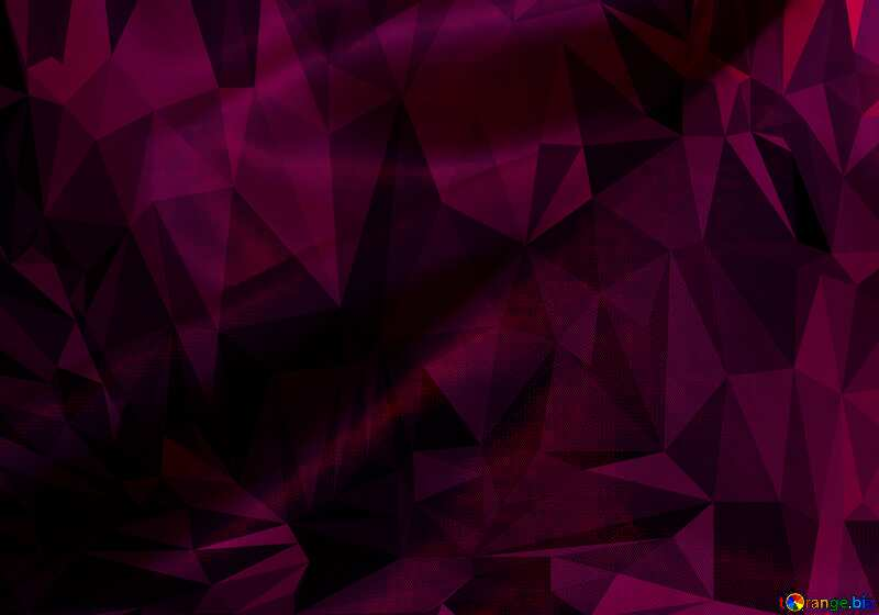 fabric Purple Polygonal abstract geometrical background with triangles №17641
