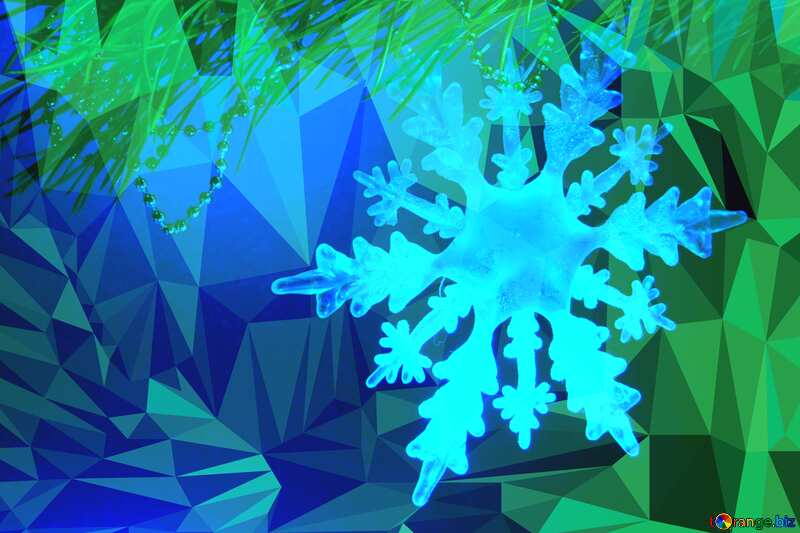 Winter snowflake Polygonal abstract geometrical background with triangles №2393