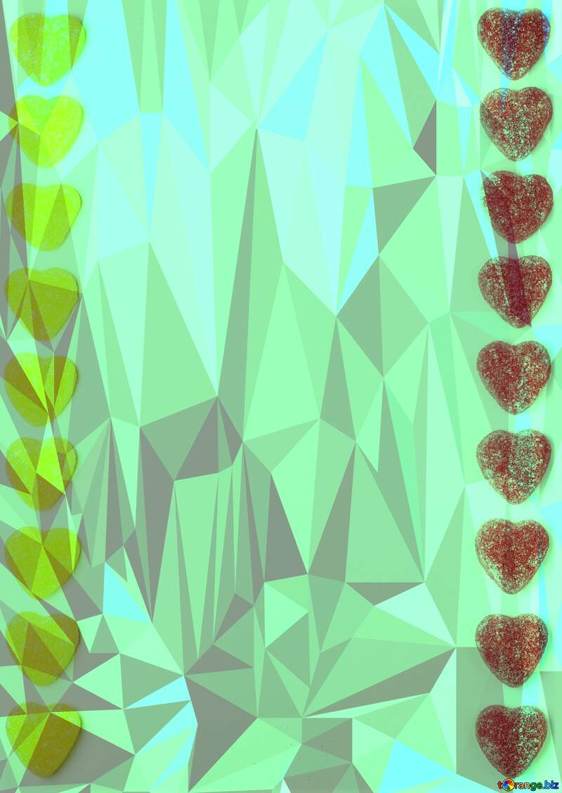 Background strip hearts Polygonal abstract geometrical background with triangles №18771