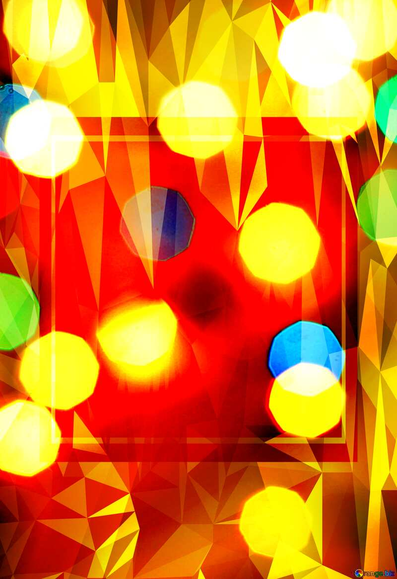 Christmas Template Responsive Polygonal abstract geometrical background with triangles №24617