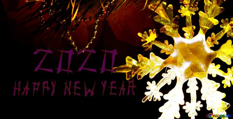 2020 New year snowflake banner template №2393