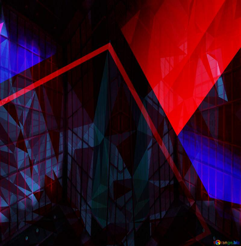 Geometric square backdrop dark red blue Polygonal abstract geometrical background with triangles №49675