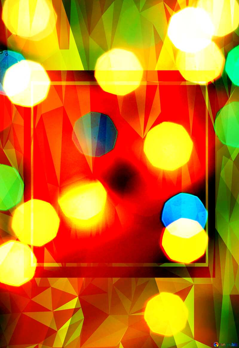 lights bokeh Design template Polygonal abstract geometrical background with triangles №24617