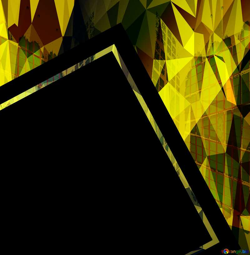 Colorful illustration template frame Polygonal abstract geometrical background with triangles №49675