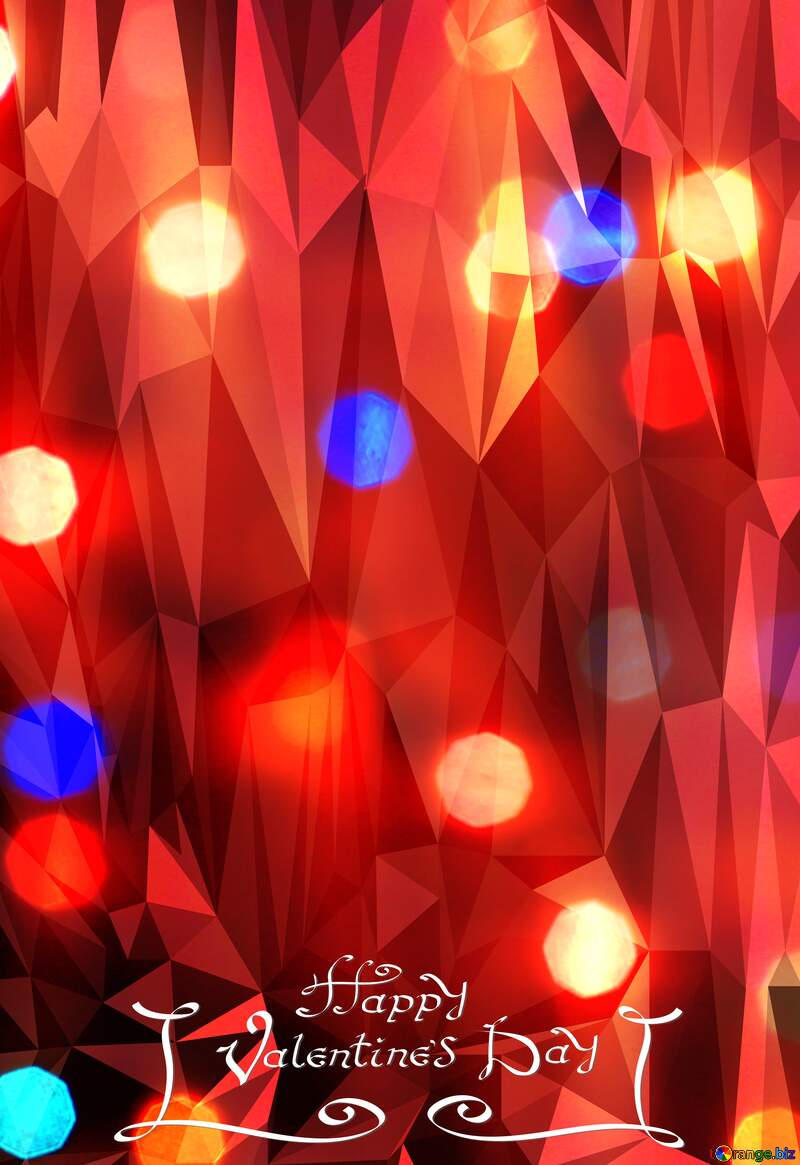 happy valentines day Bright Polygonal abstract geometrical background with triangles №24606
