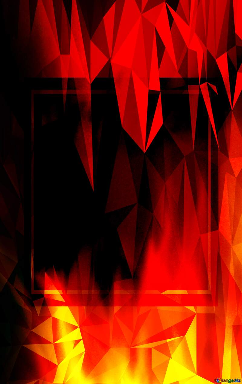 Fire Wall. Hot Sales template Polygonal abstract geometrical background with triangles №9546