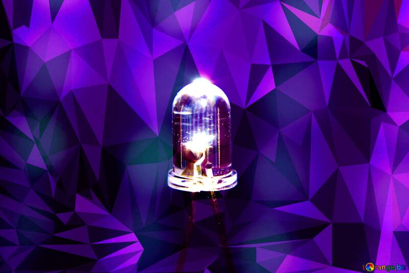 purple LED lamp Polygon background №41404