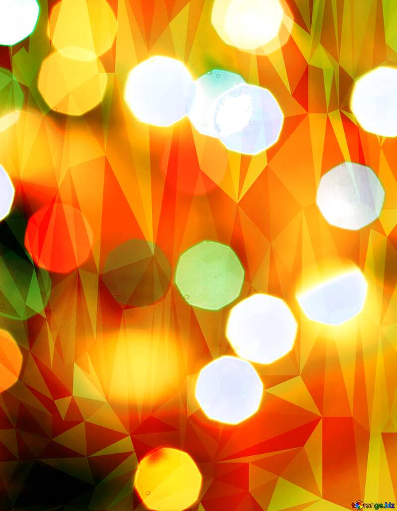 Christmas Polygonal abstract geometrical background with triangles №24617