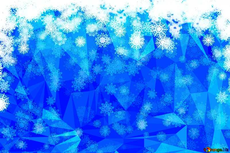 Christmas Polygonal abstract geometrical background with triangles №40662