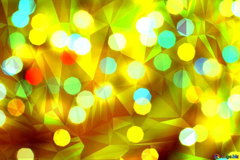 Gold Polygonal abstract geometrical background with triangles №24617
