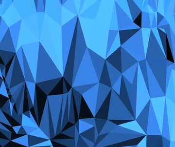 Polygonal background with triangles blue