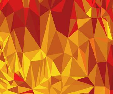 Polygonal background with triangles hot