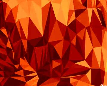 Polygonal background with triangles orange
