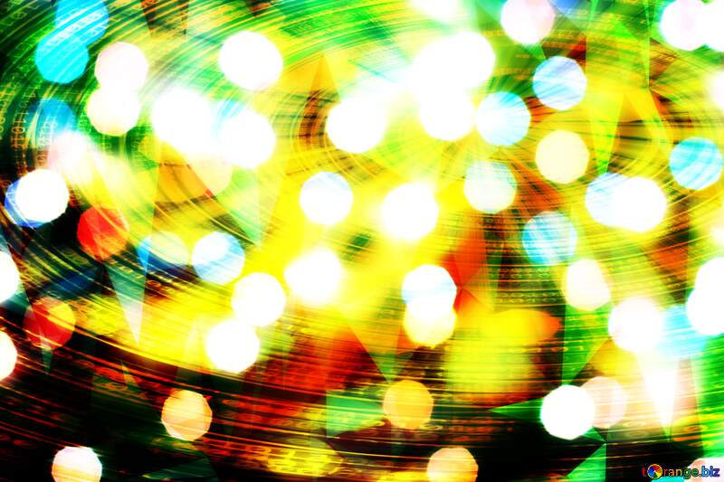 Christmas background bokeh polygonal №24617