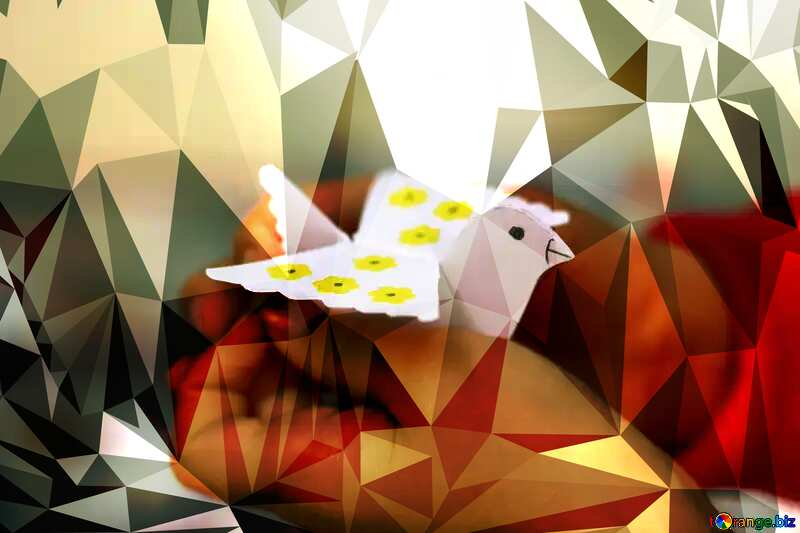 Paper bird Polygonal abstract geometrical background with triangles №51105
