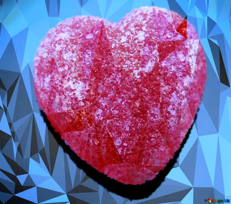 Heart candy Polygonal abstract geometrical background with triangles №18524