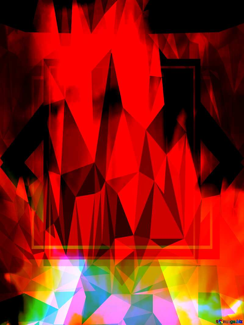 Fire template Polygonal abstract geometrical background with triangles №9546