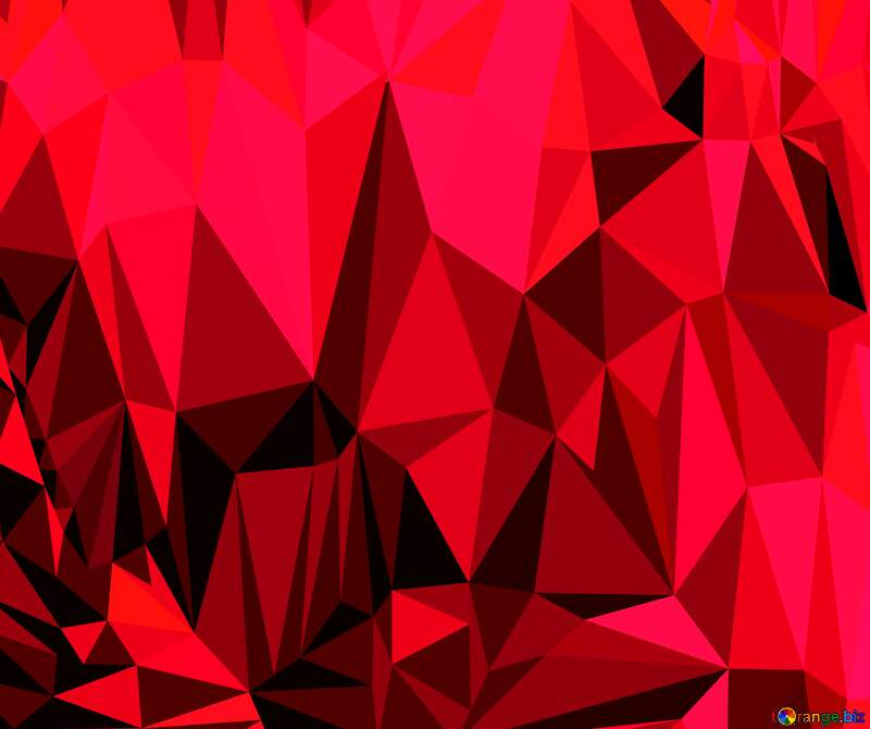 Polygon background with triangles ruby color №51583