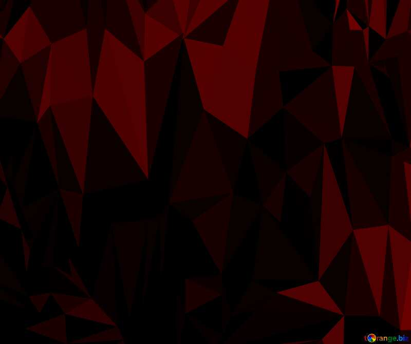 Polygon background with triangles scarlet color №51583