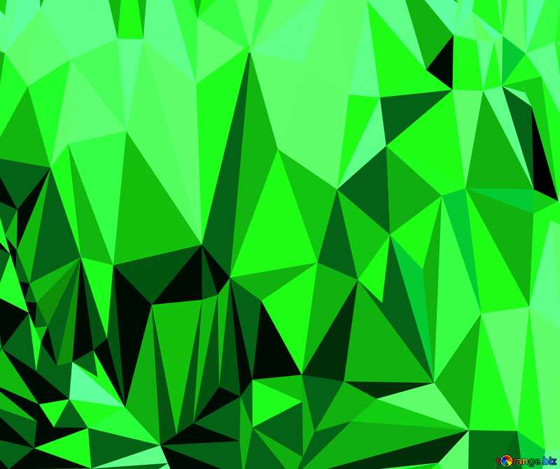 Polygon background with triangles Green №51583