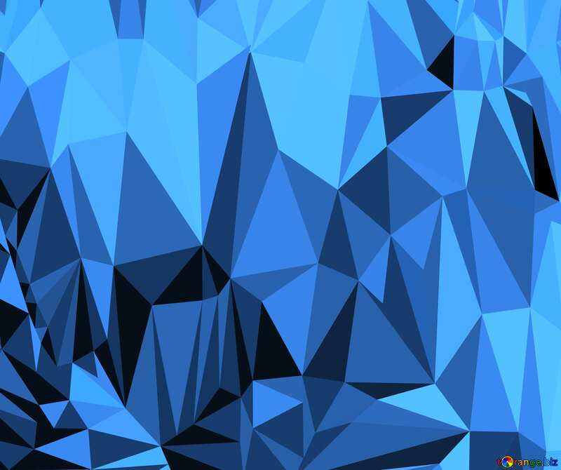 Polygonal background with triangles blue №51583