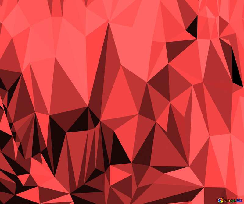 Polygonal background with triangles rose color №51583