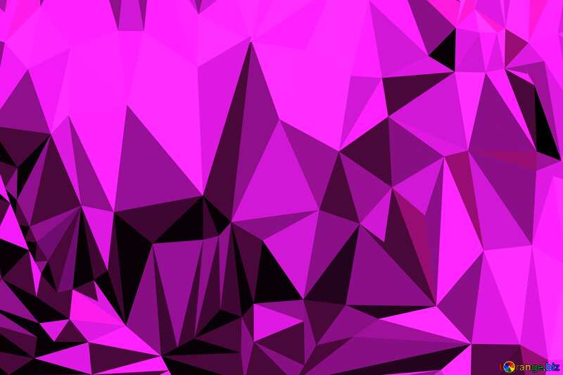 Hearts on a dark Polygonal abstract geometrical background with triangles №49197