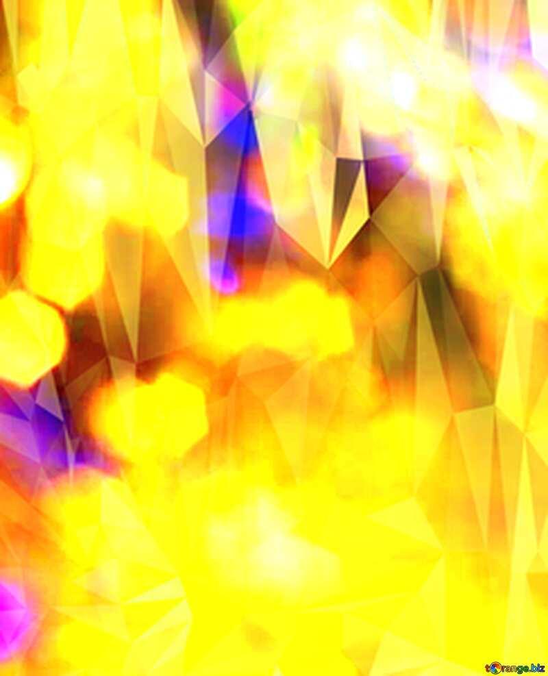 Colorful Polygonal  festive  bokeh background. №7343