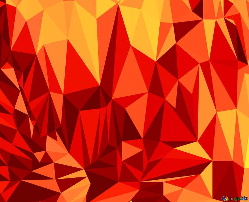 Polygonal background with triangles orange №51581